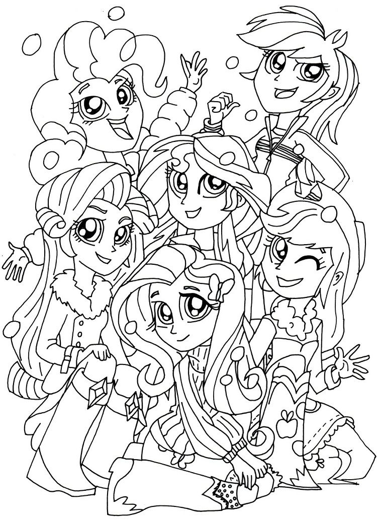 my little pony coloring pages human