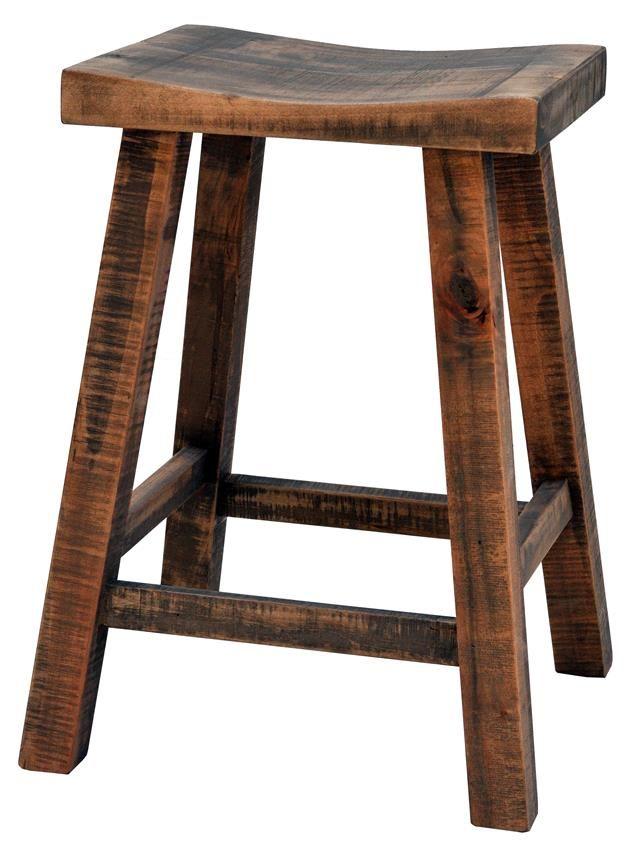 Ruff Sawn Muskoka Saddle Stool In 2020 Modern Rustic Furniture Amish Furniture Rustic Outdoor Furniture