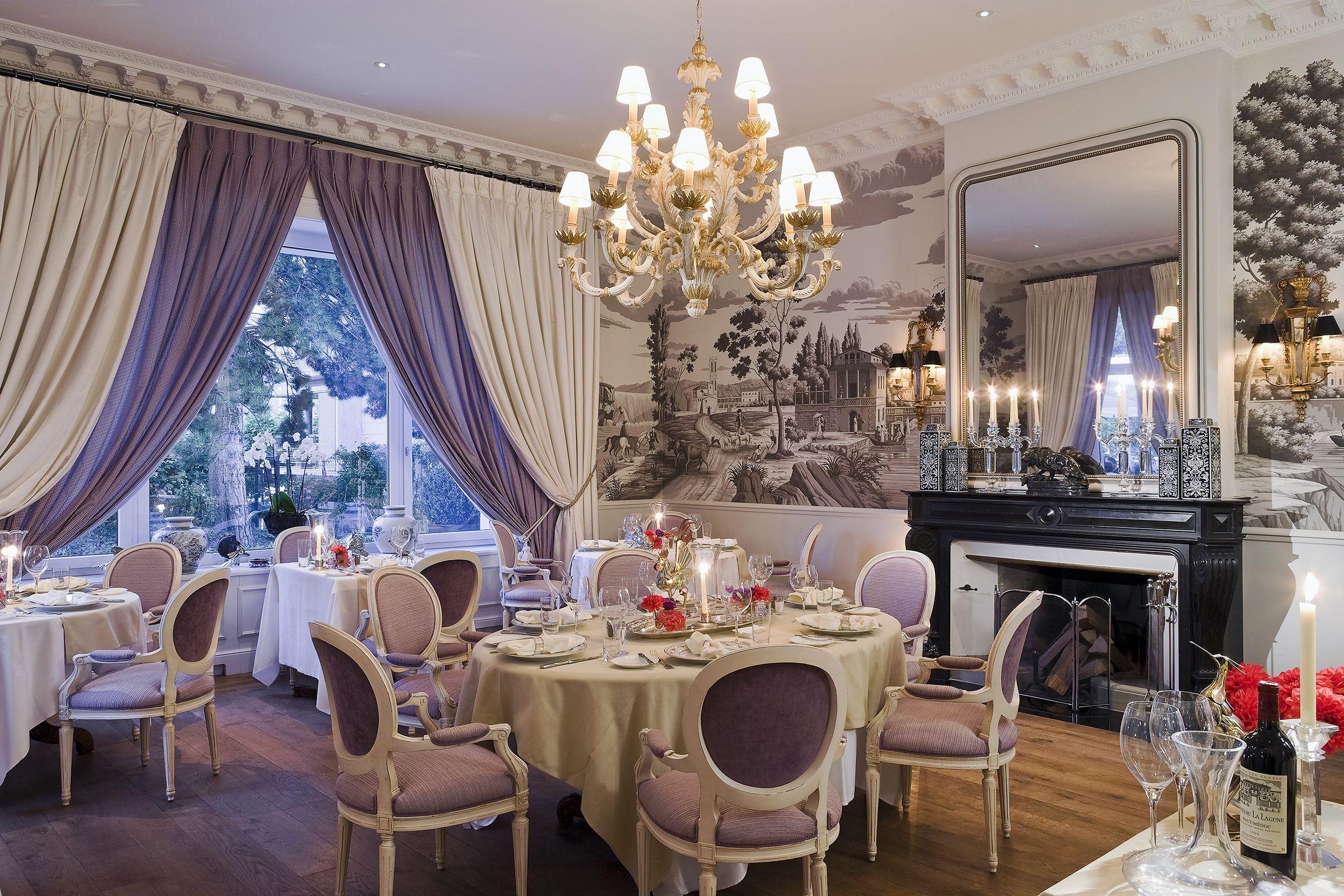 Restaurants Grand Hôtel du Lac Vevey Hand painted