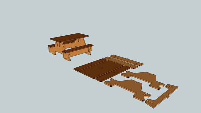 Large preview of 3D Model of mesa mdf