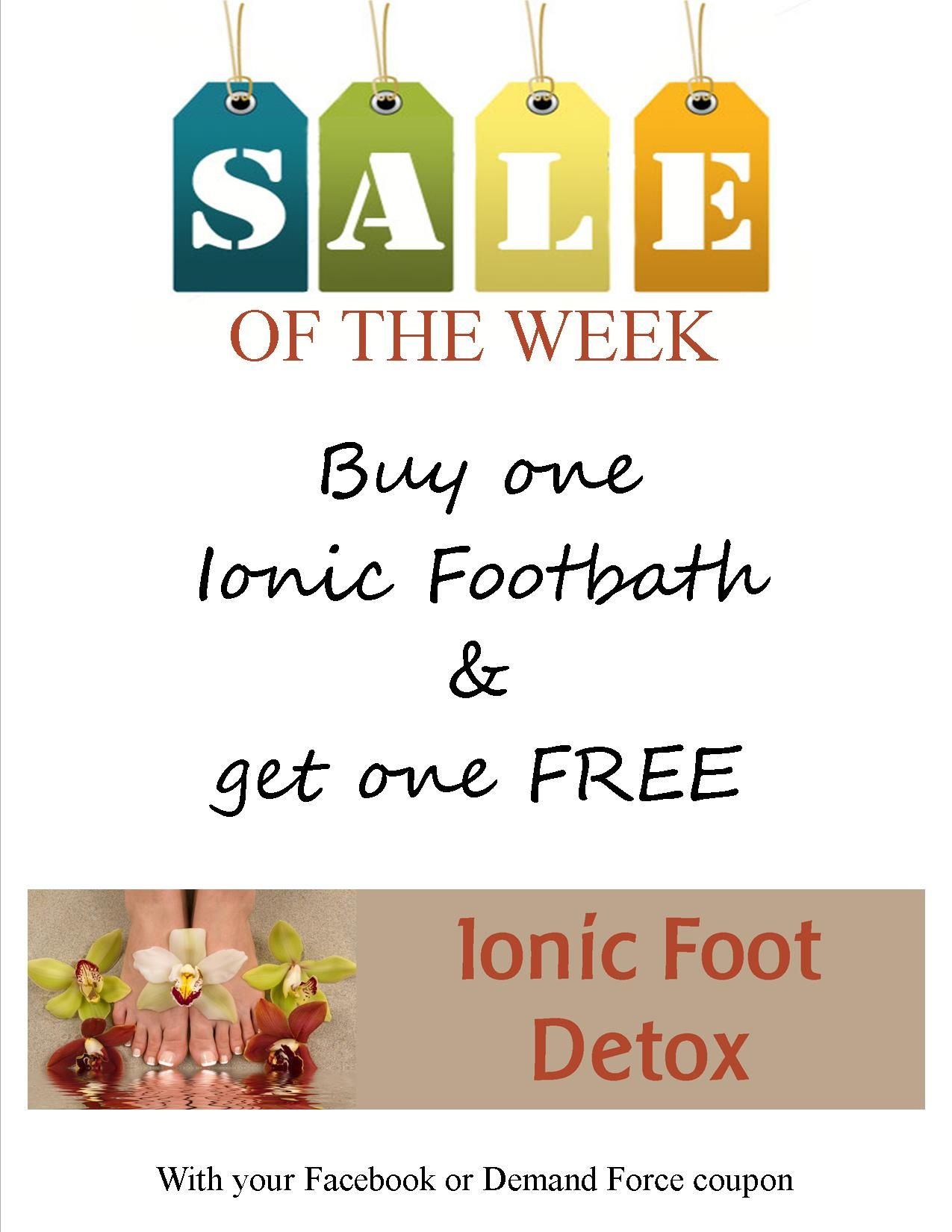 Footbaths are buy one & get one free this week, Make your