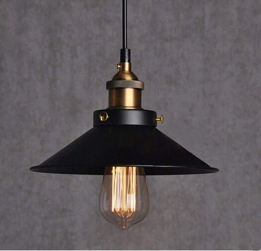 Retro Vintage Led Industrial Pendant Light Lamp Shade