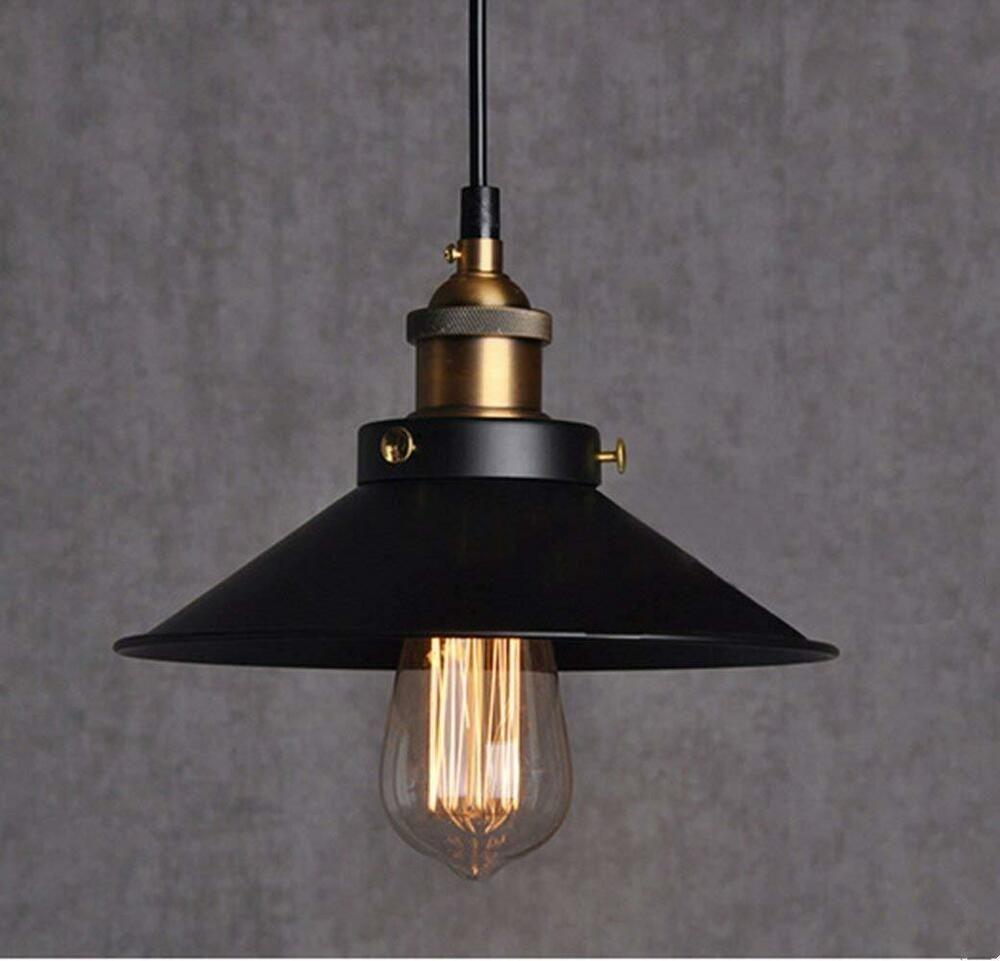 Retro Vintage Led Industrial Pendant Light Lamp Shade Ceiling Lighting E27 Base Chrasy Con