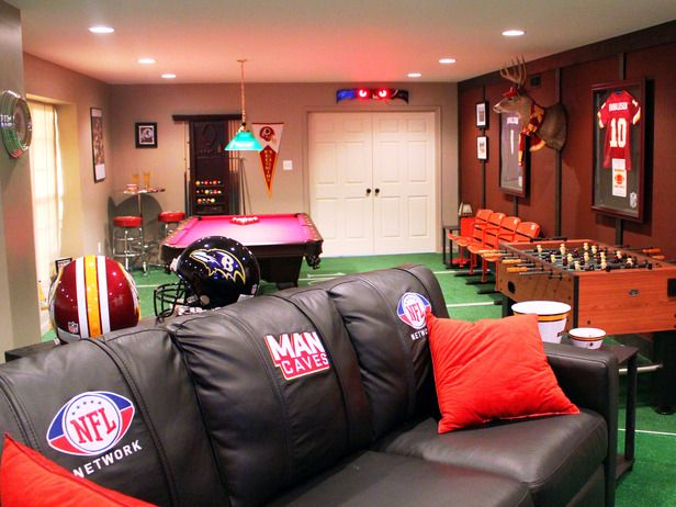 Man Caves NFL Fan Cave Man Caves Diy Network And Caves