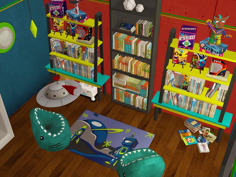simper fi, Comic book store interior. I love how it turned...