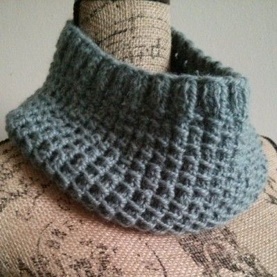 Free Knitting Pattern Bamboo Stitch Cowl Tutorial Cowls