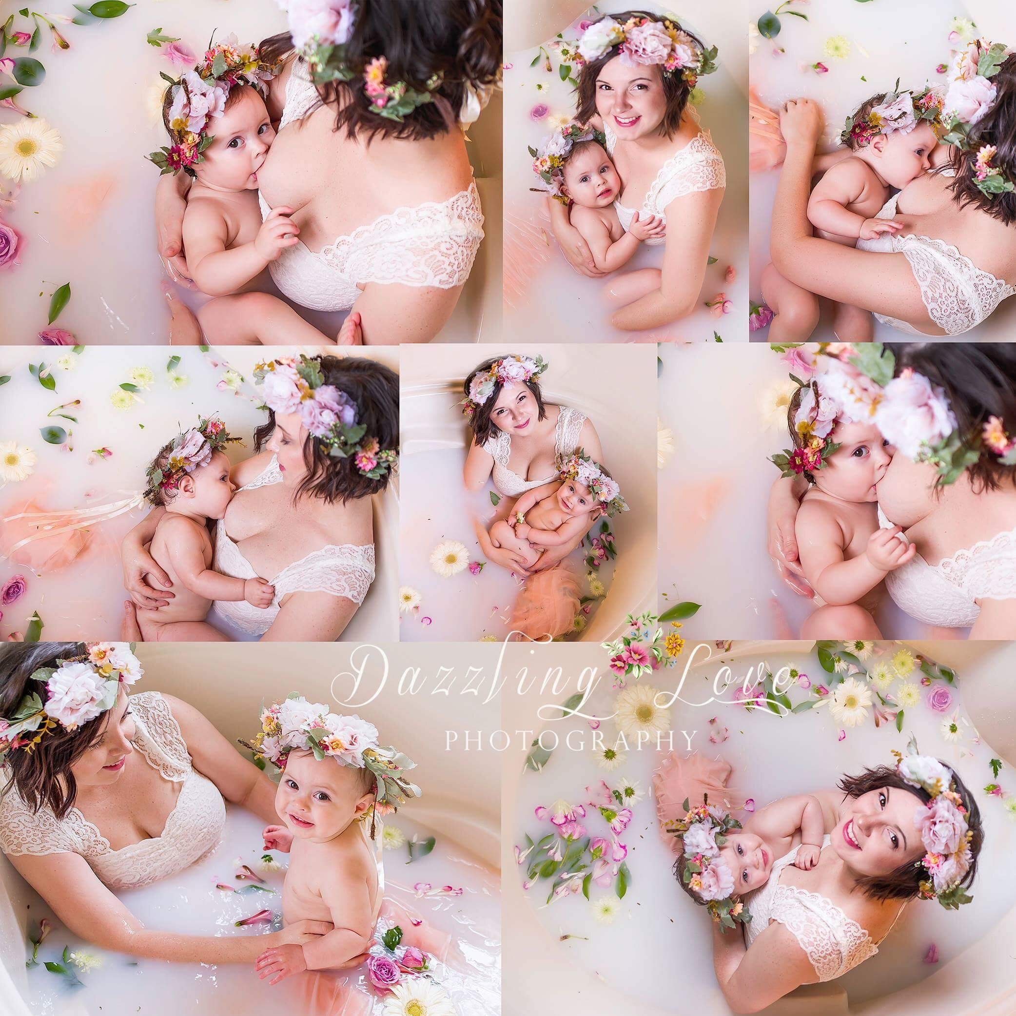 Nursing Milk Bath Photography #milkbath