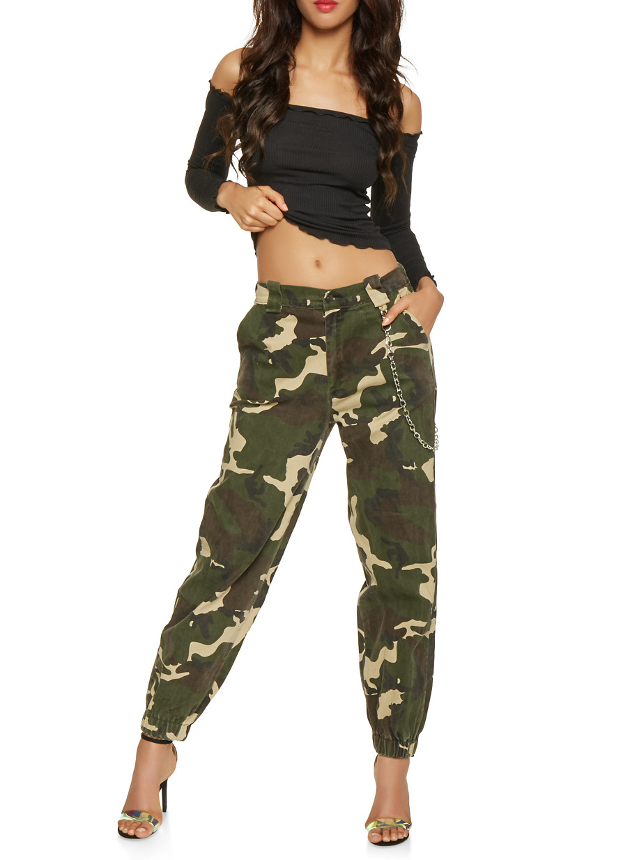 a7d2b410 Chain Detail Joggers - Green - Size M | Products | Camo fashion ...