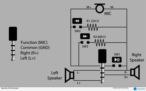stereo headphone jack pinout with wiring diagram also 35 mm