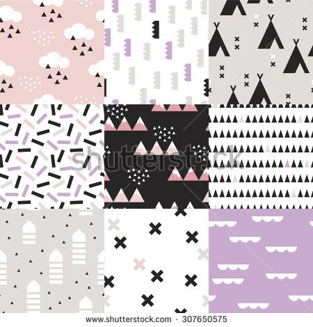 Seamless geometric woodland Scandinavian abstract teepee tent plus sign cross confetti arrows and mountains illustration background  sc 1 st  Pinterest & Seamless geometric woodland Scandinavian abstract teepee tent plus ...