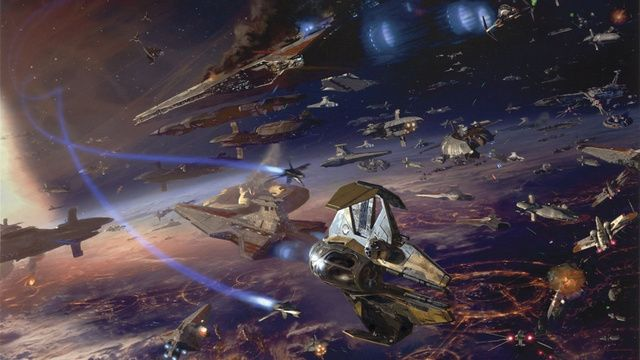 The Battle of Coruscant by Dave Seeley.