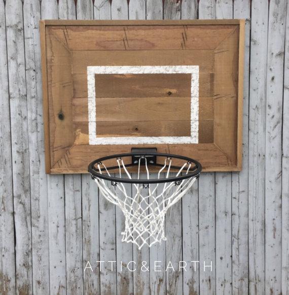 Rustic Wooden Backboard With Basketball Hoopatticandearth Amazing Basketball Hoop For Bedroom 2018