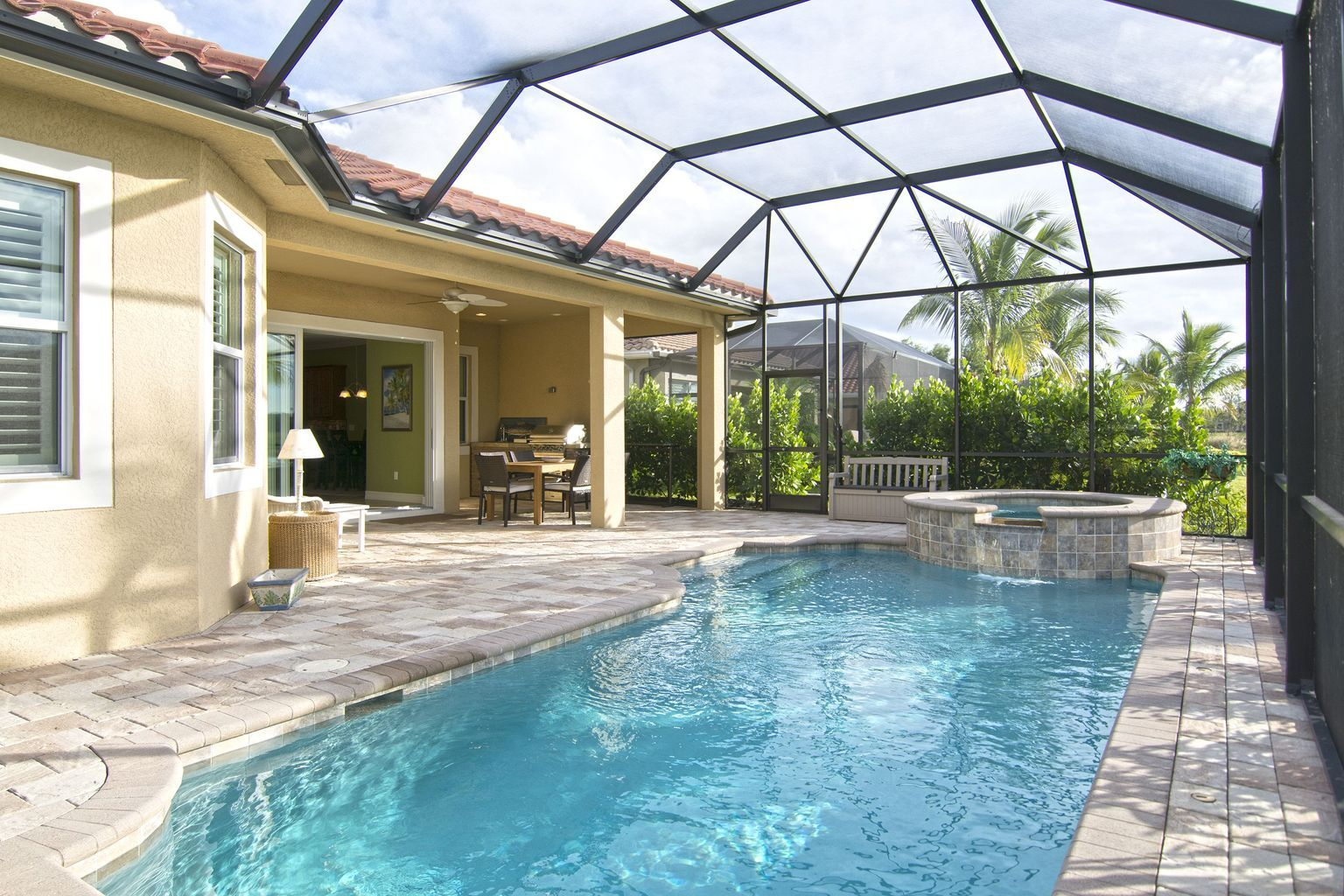 25 Screened In And Covered Pool Design Ideas Backyard Pool Pool