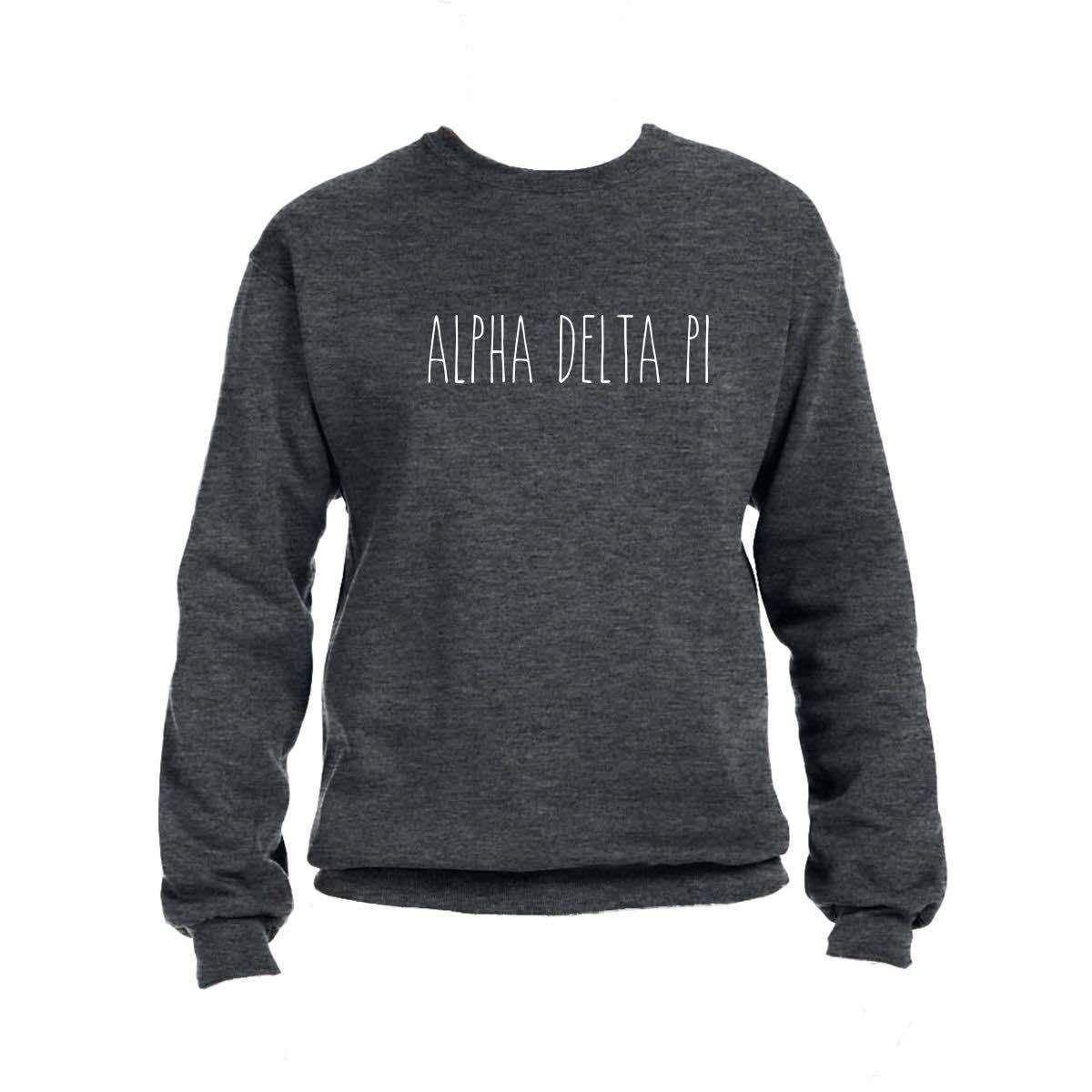 Alpha Delta Pi Sweatshirt I Sorority Name I Simply Thin Style Sweatshirts Alpha Phi Sweatshirt Sorority Sweatshirts [ 1200 x 1200 Pixel ]