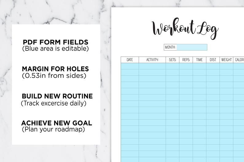 Pin On Fitness Journal