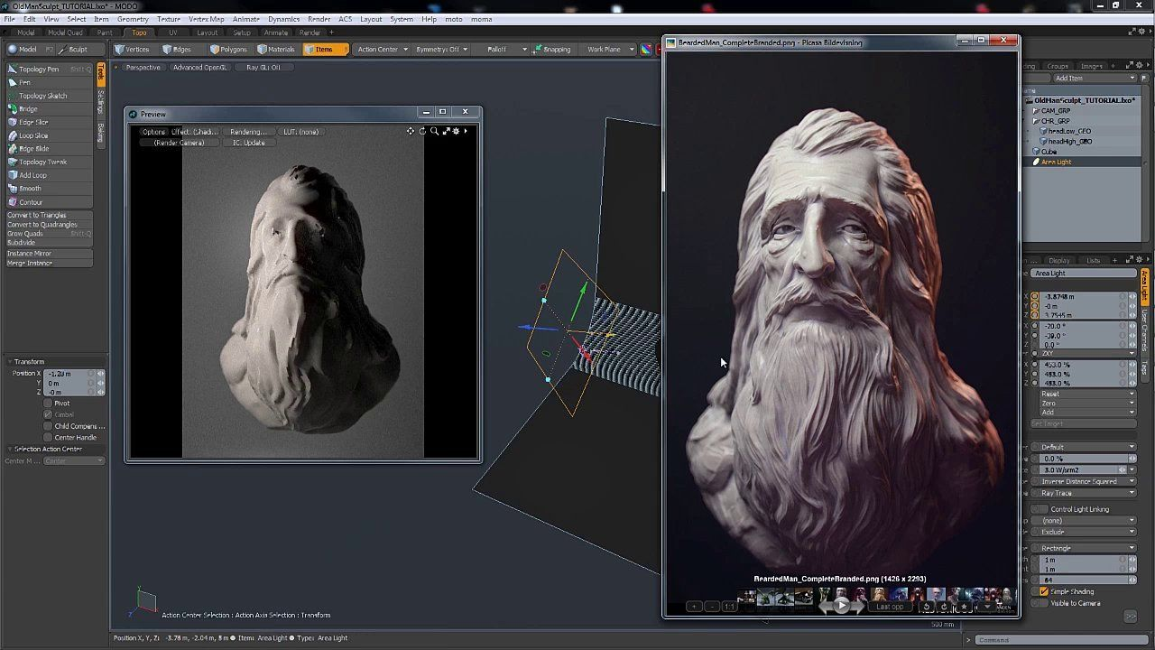 In this tutorial we're going to take a look at how to light a portrait in modo using some simple techniques, to really make your models come to life.  Here are…