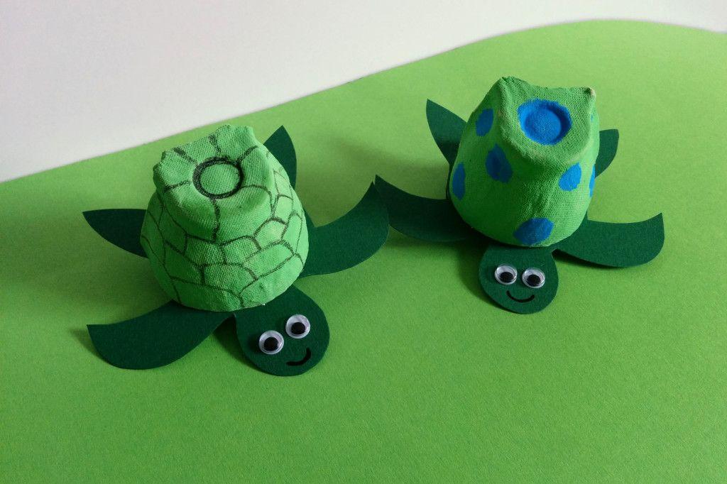 Schildkröte basteln | Schildkröte basteln, Frosch basteln ...