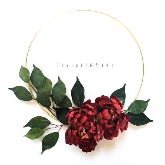 Photo of Modern Spring Floral Hoop Wreath – DIY – Modern Glam