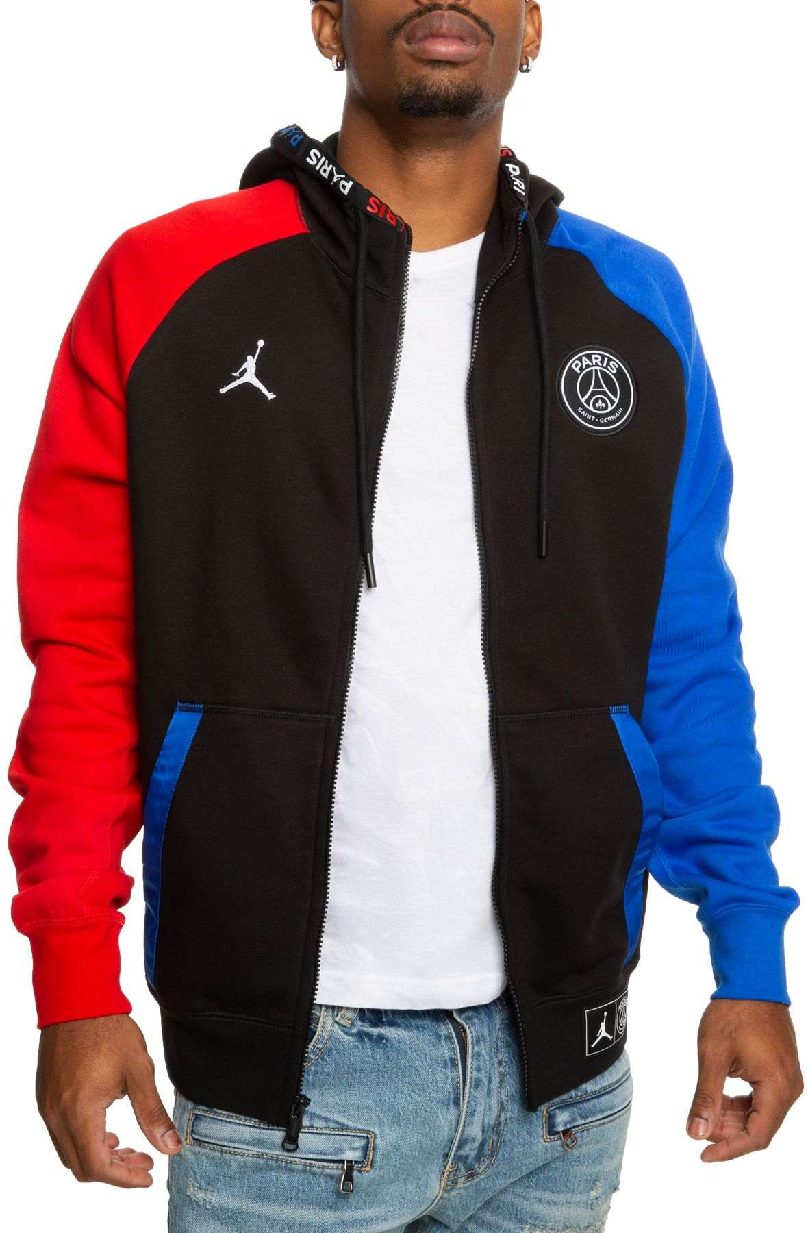 paris saint germain full zip hoodie