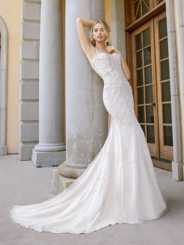 Gatsby Inspired Beaded Mermaid Dress Moonlight Couture Style H1345 ...
