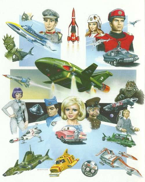 Too Busy Thinking About My Comics Ii Thunderbirds Are Go Cartoon Gerry Anderson