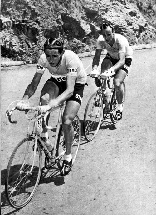 1953 Giro Ditalia Fausto Coppi And Hugo Koblet Cycling E Bici