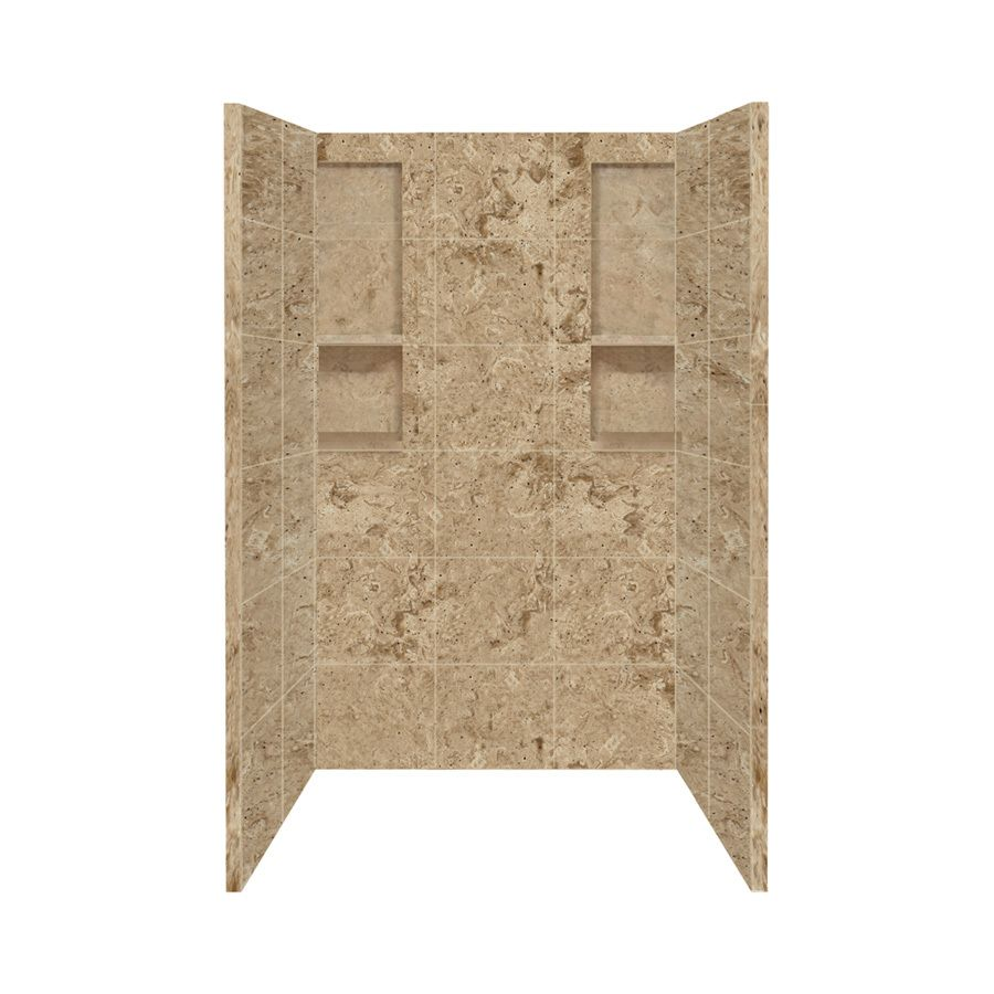 Style Selections Sand Mountain Shower Wall Surround Side And Back ...
