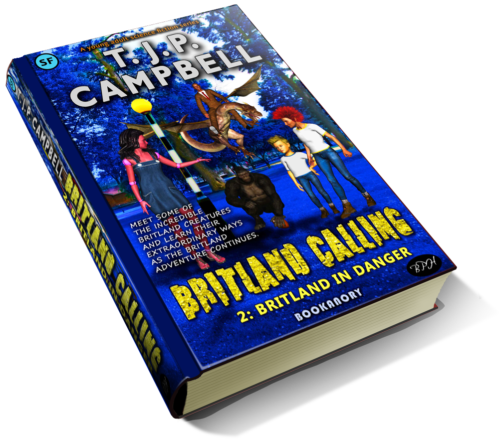 luxury 3d book cover of T.J.P. CAMPBELL's books (covers also by the author). Luxury 3D book cover of T.J.P. CAMPBELL's books (covers also by the author). This is book 2 in the Britland Calling Series. The cover features some of the prominent characters of this book's story.