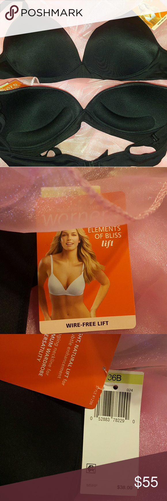 Brand New Lot Of 2 Warners Bras From Macy*s Please see pix to see exactly the type of bra lot you*ll be getting from me. See Tags. #MacysBras #WireFreeLift #BlackBras Warners Intimates & Sleepwear Bras