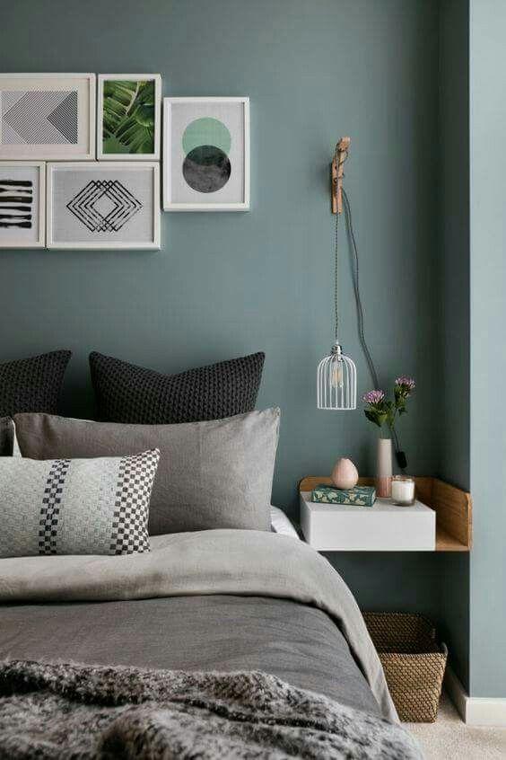 Green wall colour | Bedroom | Vert chambre, Peinture chambre et Deco ...