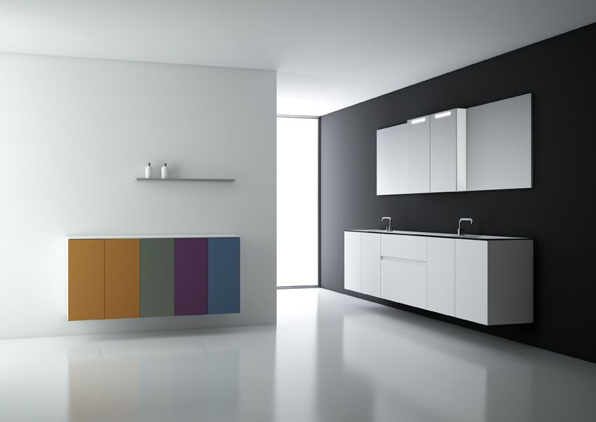 Photo of Modular #bathroom #furniture collection by COSMIC