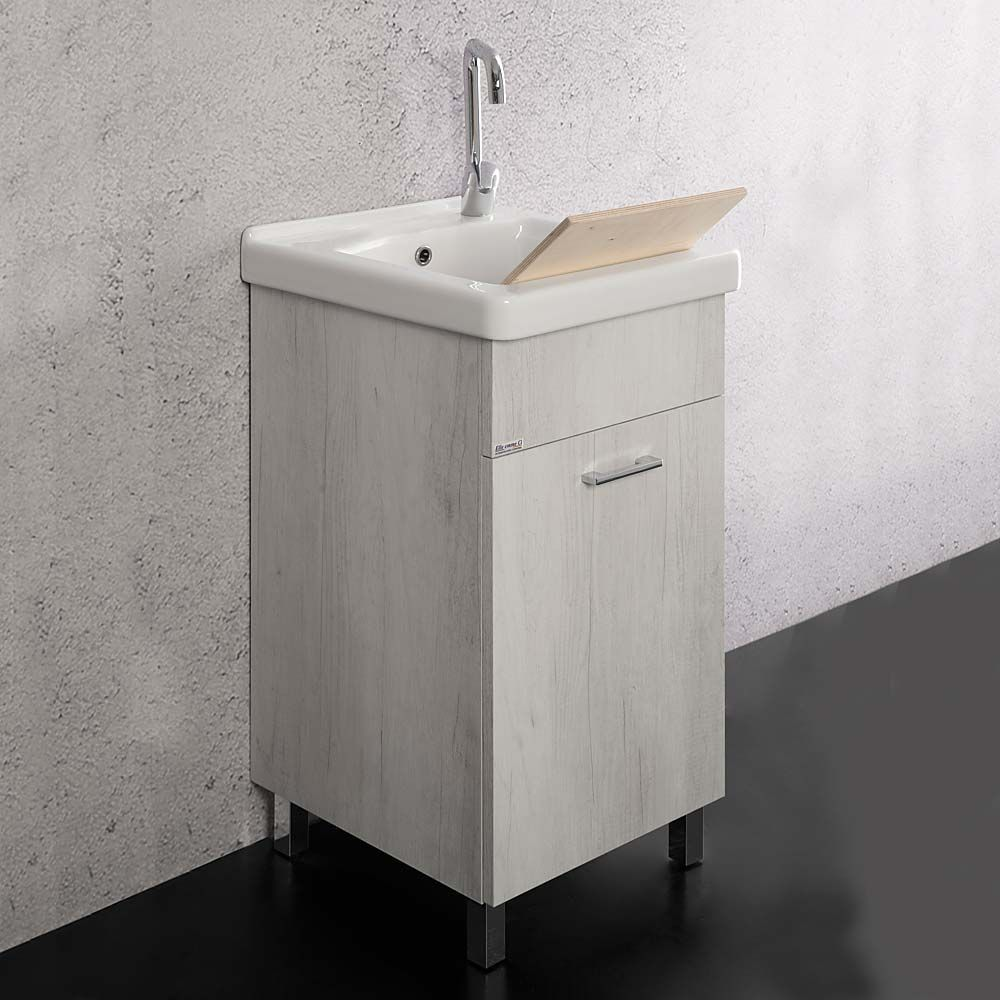 Lavatoio Unika 45x50 Con Vasca In Ceramica Ticino Lavanderie