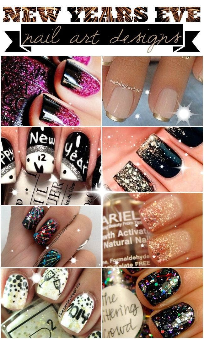 New Year\'s Eve Nail Art Designs! All the sparkly glitter you need to ...