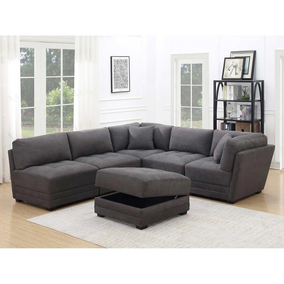 Norris 6 Piece Fabric Modular Sectional Modular Sectional Sectional Sofa Fabric Sofa Uk
