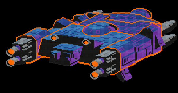 Bead pattern for the spaceship from the game Arkanoid! #badablip #pixelart #perlerbeads #beads #arkanoid #spacecraft