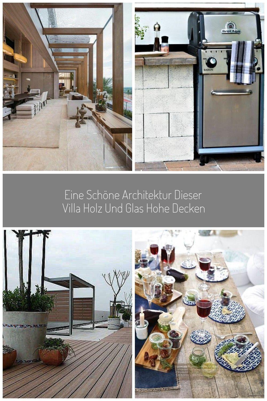 Eine Schne Architektur Dieser Villa Holz Und Glas Hohe Decken Villa Design Architektur Villa