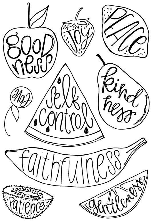 Fruit Of The Spirit Clear Acrylic Stamp Set Taz Belly By Kristin Fields Fruit Of The Spirit Clear Acrylic Stamps Love Coloring Pages