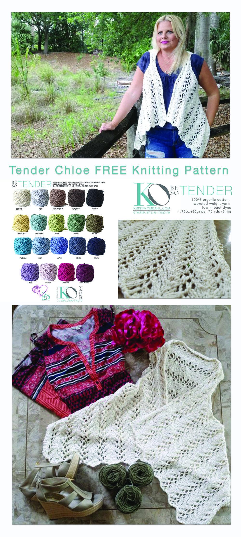 Apr 10 Tender Chloe Knit Lace Vest FREE Pattern | Lace vest, Knit ...
