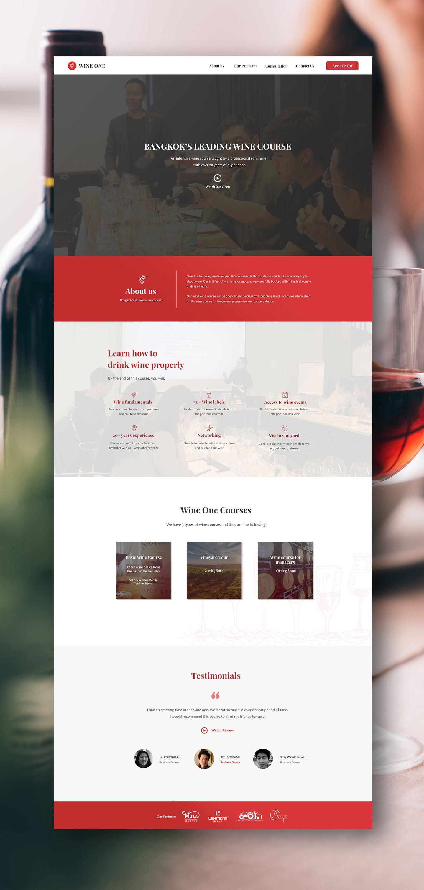 Wine One Yes Web Design Studio L Web Design Bangkok Thailand Web Design Studio Web Design Web Design Company
