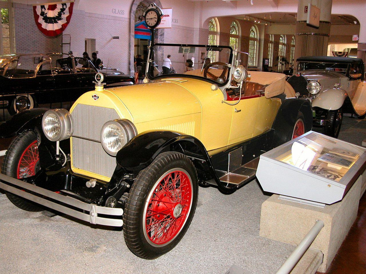 Cars 1923 stutz bearcat roadster yellow black fvl h ford museum n