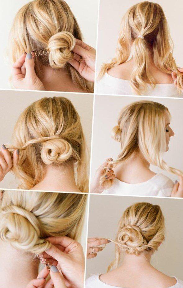Frisur selber machen