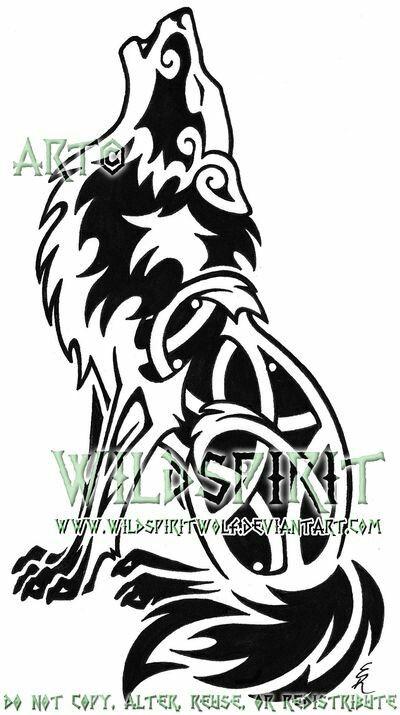 celtic wolf loup pinterest tatouage loup tatouage. Black Bedroom Furniture Sets. Home Design Ideas