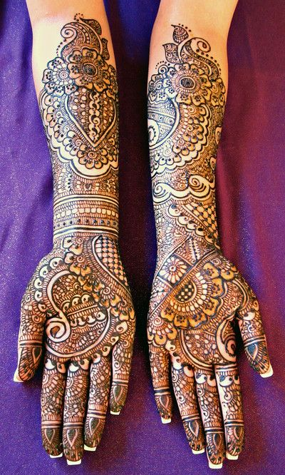 Full hand mehndi designs front bridal hands indian also best images in rh br pinterest