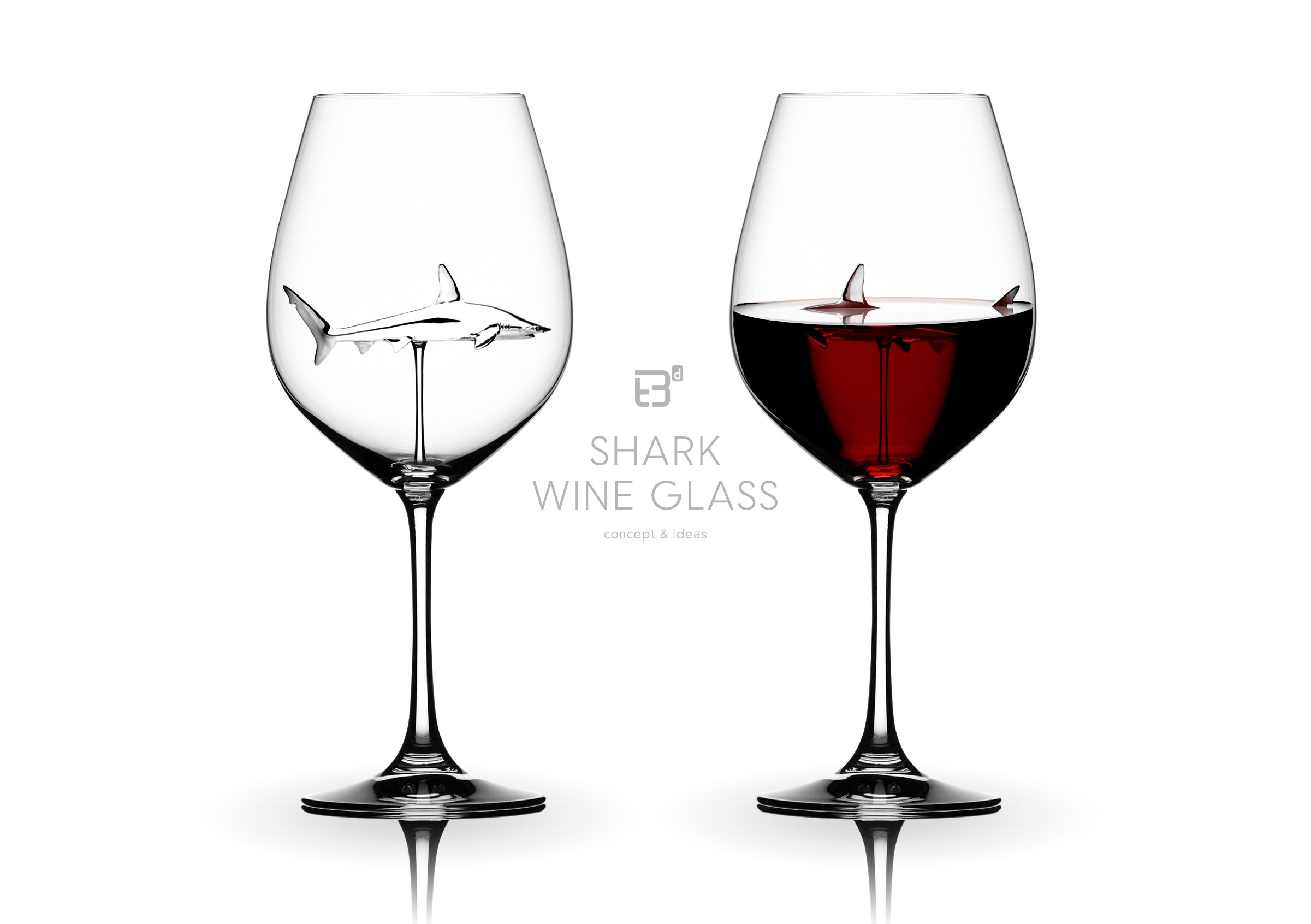 Shark wine glass concept ideas product design work for Billige deko sachen