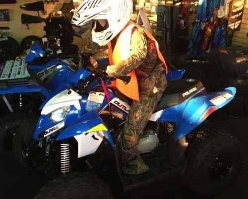 New 2016 Polaris Outlaw® 110 EFI ATVs For Sale in South Carolina. VooDoo Blue Electronic Fuel Injected (EFI) 112 cc Engine Parent-adjustable speed limiter Includes safety flag, helmet, and instructional DVD