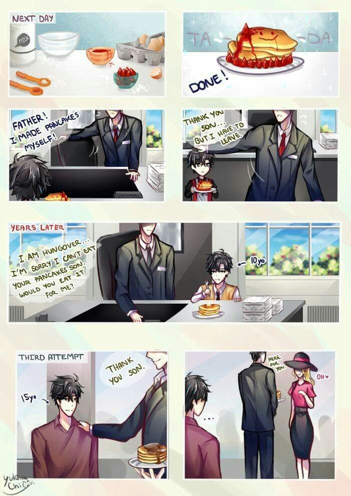 Goddammit Father Dx Just Eat The Freaking Pancakes Would Ya Mystic Messenger Characters Mystic Messenger Jumin Mystic Messenger Comic