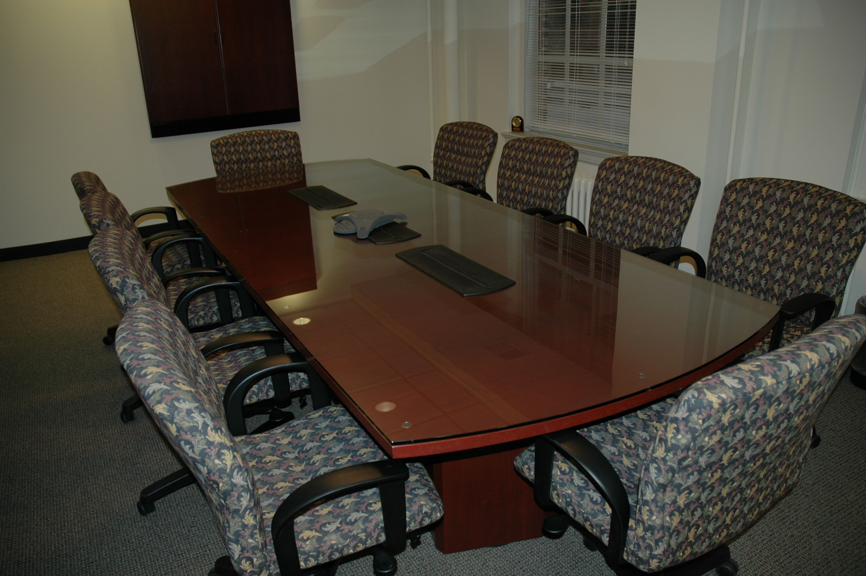Clear Glass Table Top To Protect Wood Conference Room Table