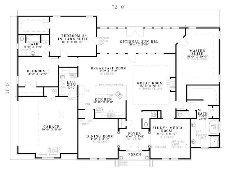 Cherry Street Floorplan Over 3 000 Square Feet A Little Too Big I Do Like The Simple Open L Modular Home Floor Plans Home Design Floor Plans House Plans