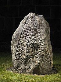The Ådum stone / Aadum stone. Rune stone from 1025-1250. Found in 1629. #vikingage #runestone