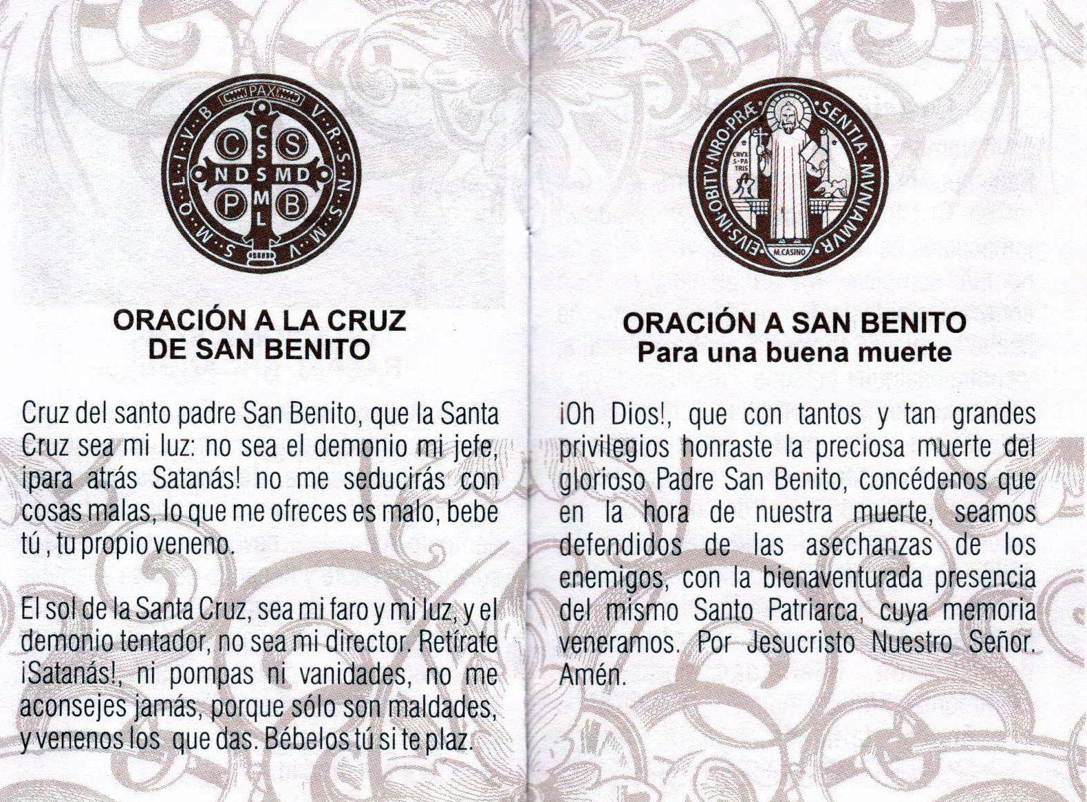 San Benito Orando Oração Afirmações